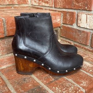 Lucky Brand Yasamin Studded Black Leather Booties
